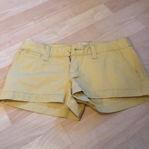 Mossimo Yellow Shorts, Size 1